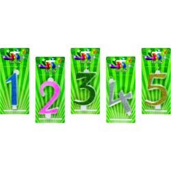 Świeczki brokatowe zielone