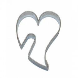 Wykrojnik serce wygięte na filiżankę 5,5cm