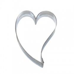 Wykrojnik serce wygięte 6,4cm