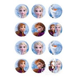 Masa cukrowa Frozen - Φ6cm