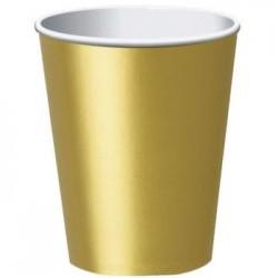 Kubek papierowy złoty