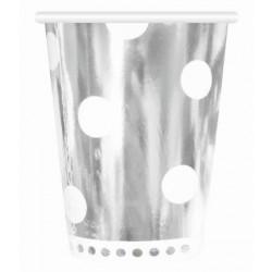 Kubeczki papierowe srebrne