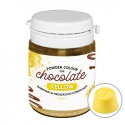 Barwnik w proszku do czekolady i mas tłustych żółty