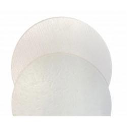 Podkład biały dwustronny  Φ32  *wzór drewno*
