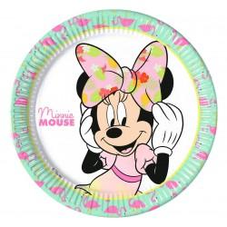 talerzyki papierowe Minnie Mouse 23cm