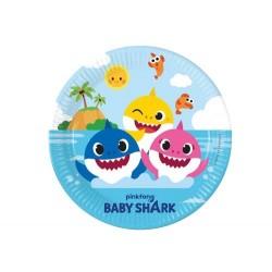 Talerzyki papierowe Baby Shark 23cm