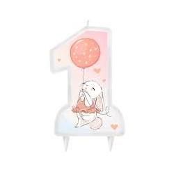 Świeczka urodzinowa króliczek