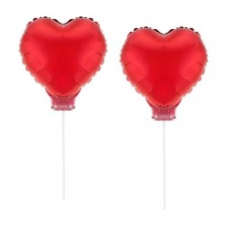 Balony serca na patyku