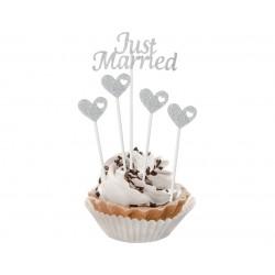 Pikery srenrne - Just Married 5szt.
