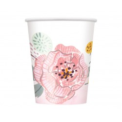 Kubki papierowe kwiat 8szt. 270ml