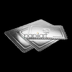 Podkład prostokątny srebrny 40x60cm