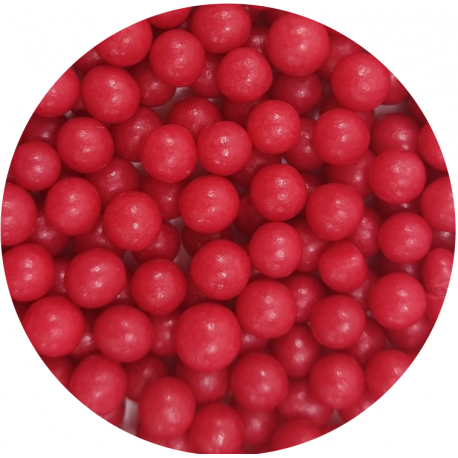 Groszki perłowe czerwone