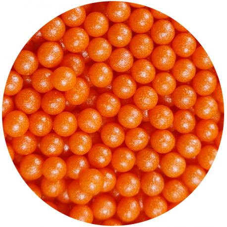 Groszek perłowy pomarańczowy 4mm  50g