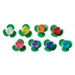 Róża waflowa mini z listkami