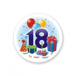 """Opłatek okrągły """"18"""""""