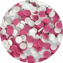 Konfetti biało - różowe 50g