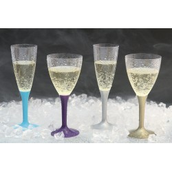 Kieliszki do szampana - plastikowe, czarne