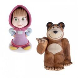 Figurka Masza i niedźwiedź z masy cukrowej
