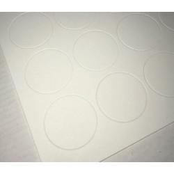 Nadruki personalizowane na arkuszach cukrowcyh A4 - nacięte koła 5cm